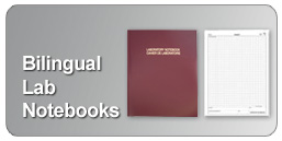 bilingual lab notebooks in English, French and German